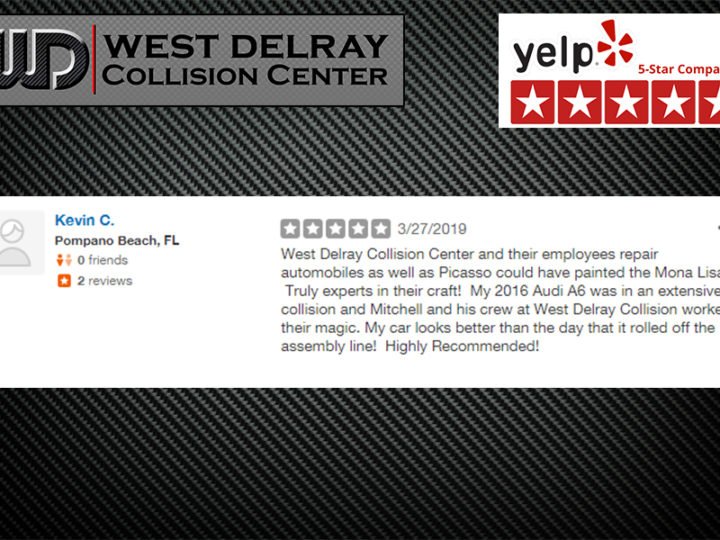 5 Star Yelp Review by Kevin C. | West Delray Collision Center