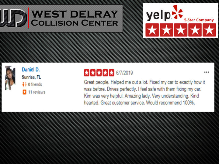 5 Star Yelp Review by Daniel D. | West Delray Collision Center